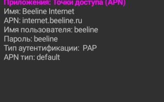 Как настроить интернет Билайн на телефоне