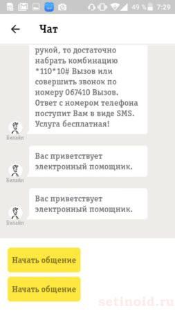Общение с электронным помощником